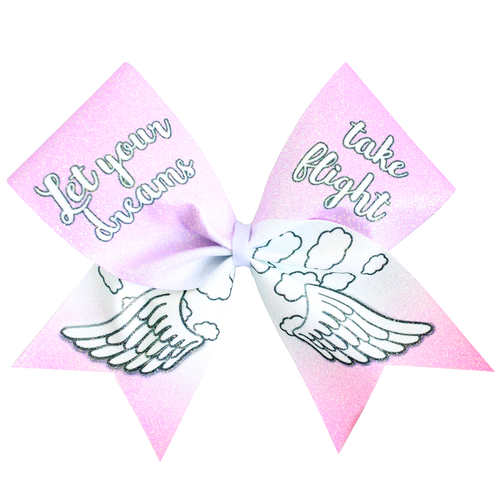 Let your Dreams Take Flight Glitter Cheer Bow