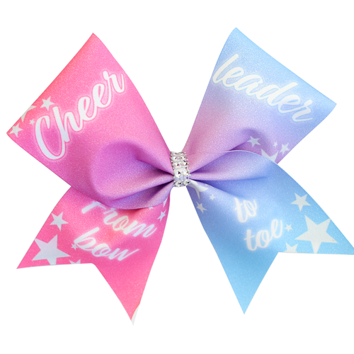 Cheerleader From Bow To Toe Cheer Glitter Bow