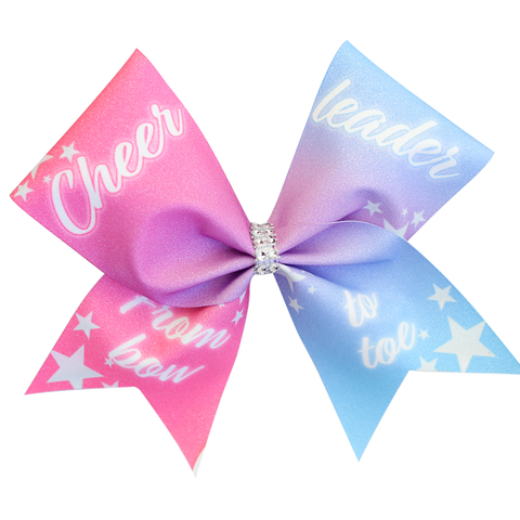 Rose Gold Glitter Cheer Bow