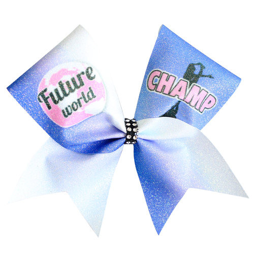 Future World Champ Cheer Glitter Bow