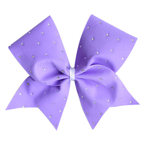 Lilac Scattered Bling Cheer Bow
