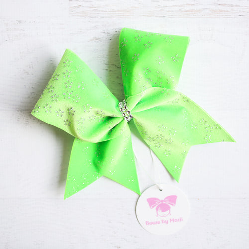 Lime Green Velvet Cheer Bow