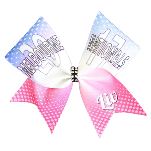 Black Glitter Rhinestones Cheer Bow