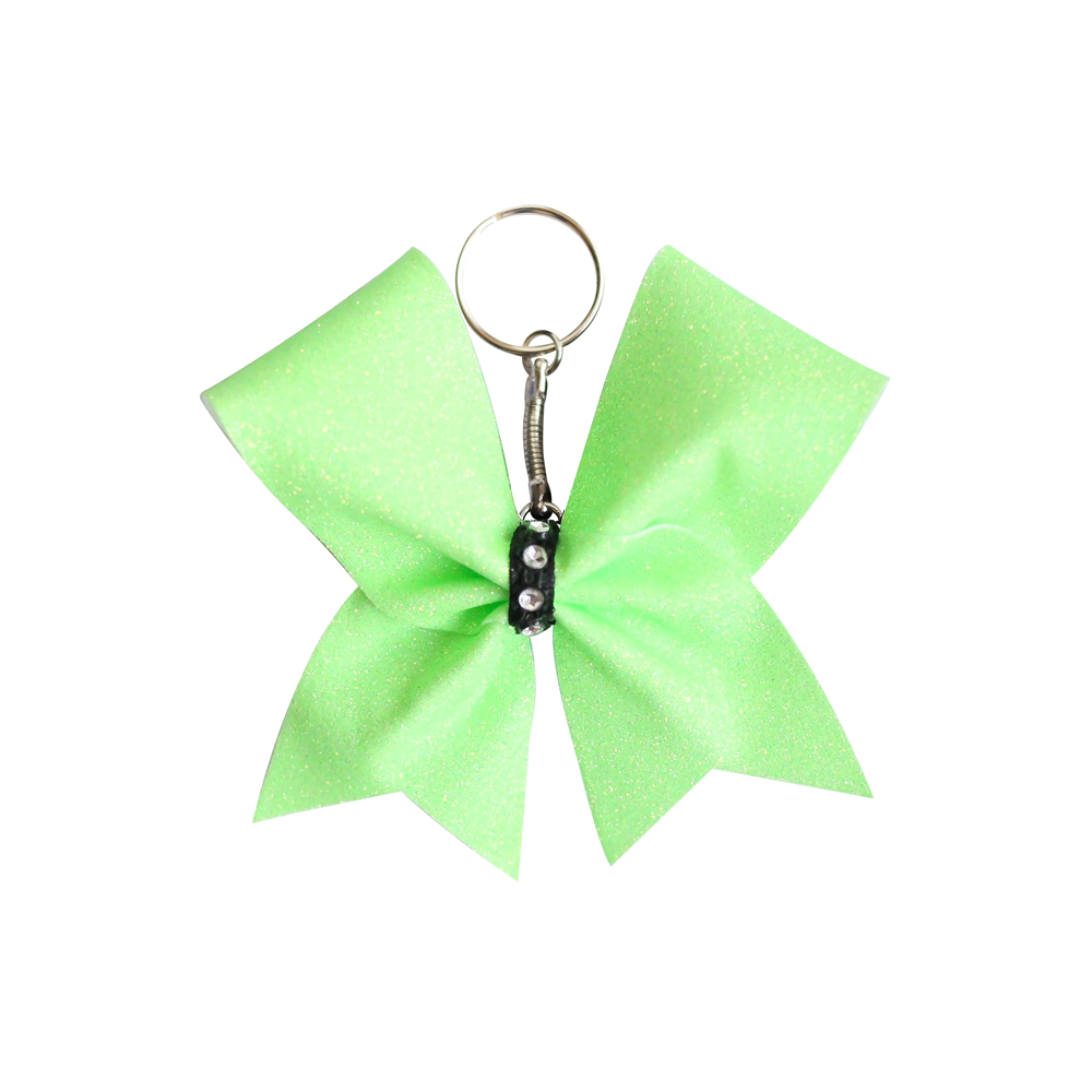 Neon Green Mini Cheer Bow Keyring