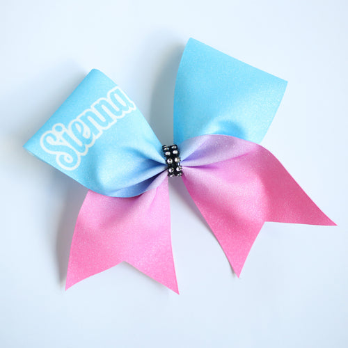Ocean Customised Glitter Cheer Bow