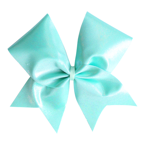 Blue Leopard Customised Glitter Cheer Bow