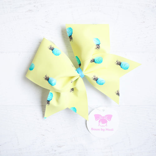 Pineapple Cheer Bow