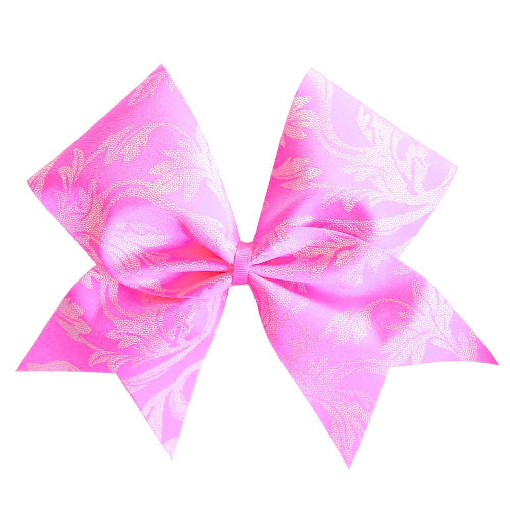 Pink Floral Cheer Bow