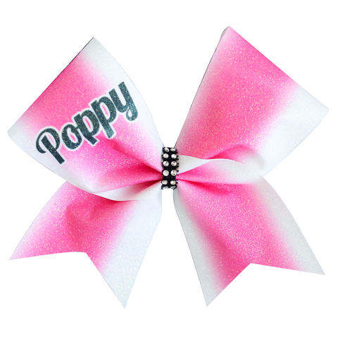 Pink & White Tie Dye Cheer Bow