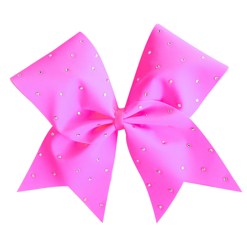 Pink Scattered Bling Cheer Bow