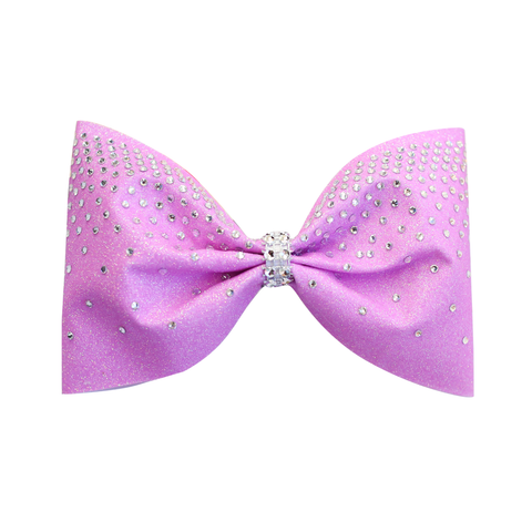 Blue & Pink Ombre Customised Glitter Cheer Bow