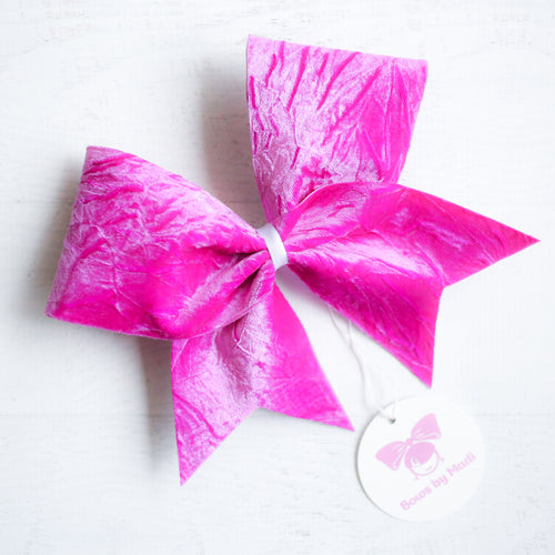Purple Velvet Cheer Bow