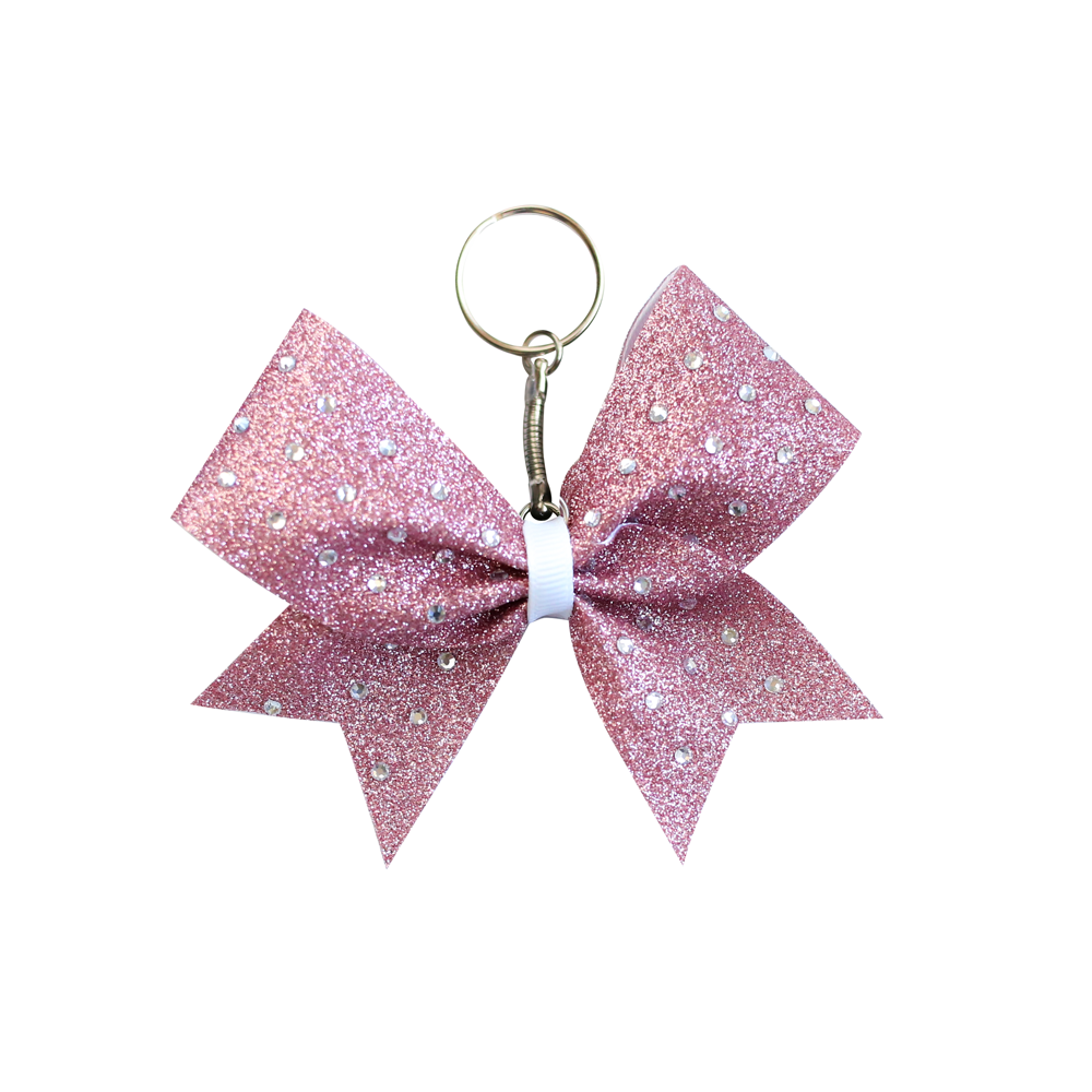 Rose Gold Glitter Bling Keyring