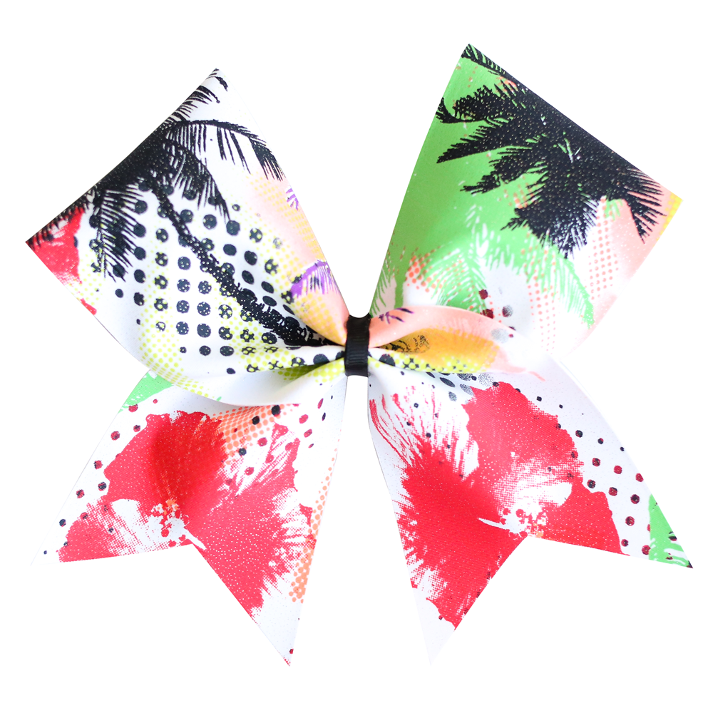 Summer Palm Cheer Bow
