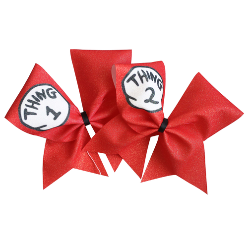 Thing 1 & Thing 2 Cheer Bow Set