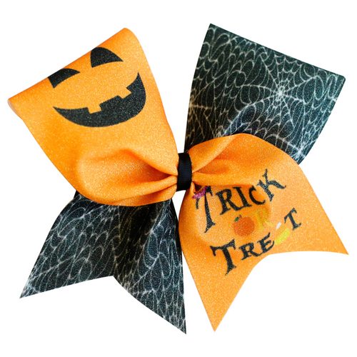 Trick or Treat Glitter Cheer Bow