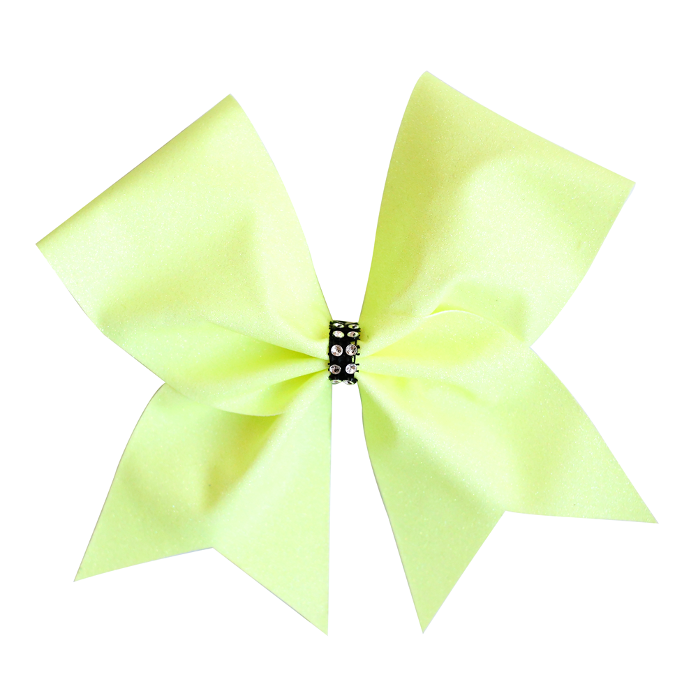 Yellow Glitter Cheer Bow