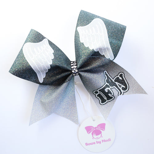iFLY Black Large Cheer Bow