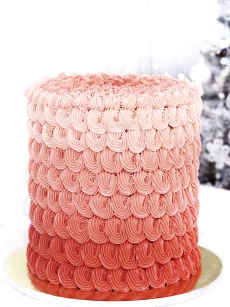 Red Ombré Cake