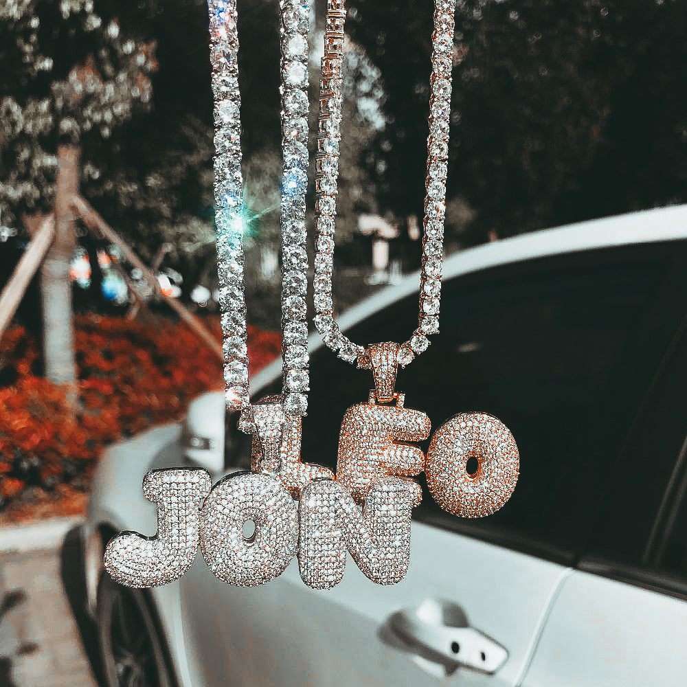 Custom Bubble Letter Necklace
