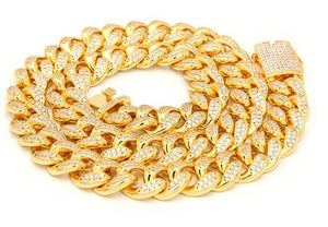Micro Pave Cuban Link Chain