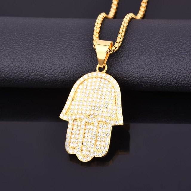 Hamasa Charm with Box Link Chain