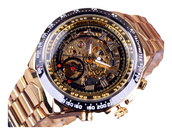 Royal Sports Watch For Men (See-through Mechanical Skeleton And Automatic Self Wind)