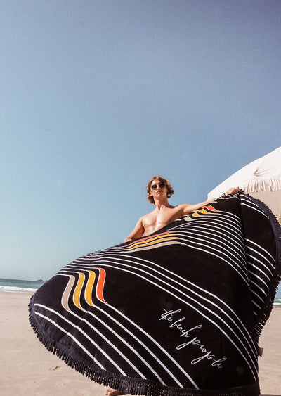 the original round towel the beach people