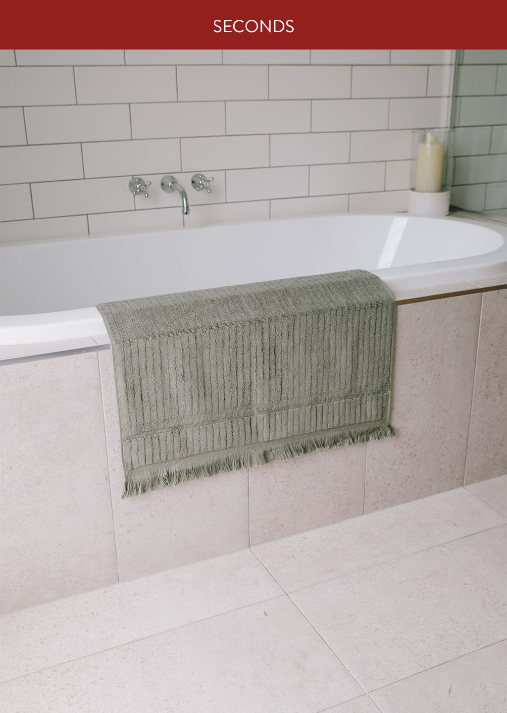 Luxe Bath Mat - Dusty Green (Seconds)