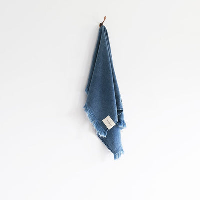 Indigo Stonewash Hand Towel - The Beach People