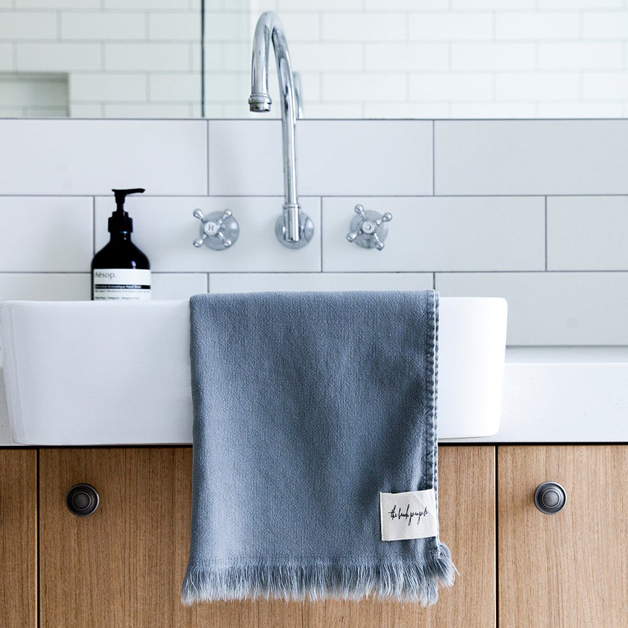 Ash Stonewash Hand Towel - The Beach People