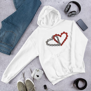 Chained Hearts Hooded Sweatshirt - MyBuggy