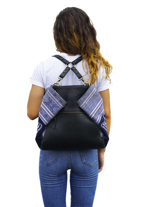 Leatie The Versatile Backpack reversible Tote of Haida Co. the Ethical Fashion Brand
