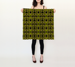 Yellow dots pattern on black 26x26 Square Scarf