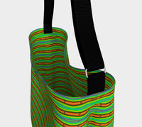 Modern Orange Green Stripes Pattern Tote Bag