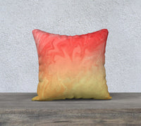Ombre Orange Yellow Pattern Pillow Case