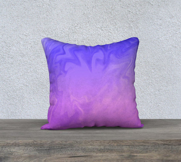 Ombre Purple Pink Design Pillow Case