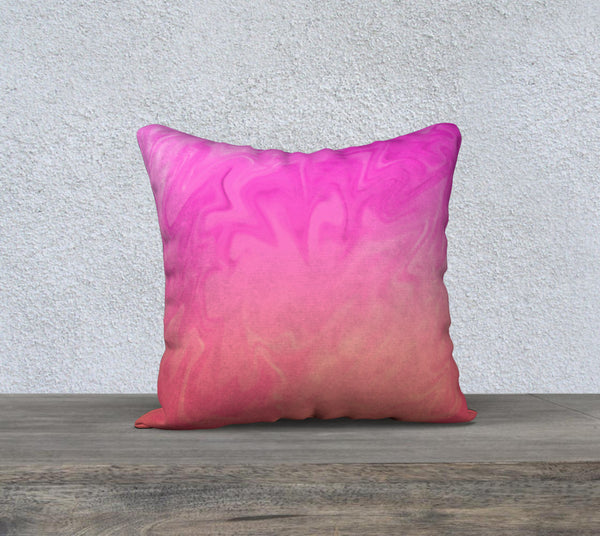 Ombre Pink Orange Design Pillow Case