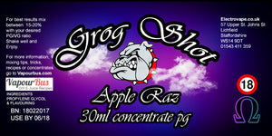 30ml Grog Shot Concentrate - Apple Raz
