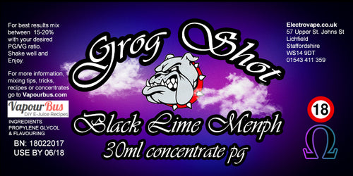 30ml Grog Shot Concentrate - Black Lime Menph