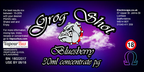 30ml Grog Shot Concentrate - Bluesberry