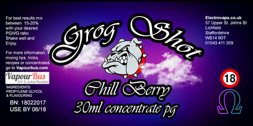 30ml Grog Shot Concentrate - Chill Berry