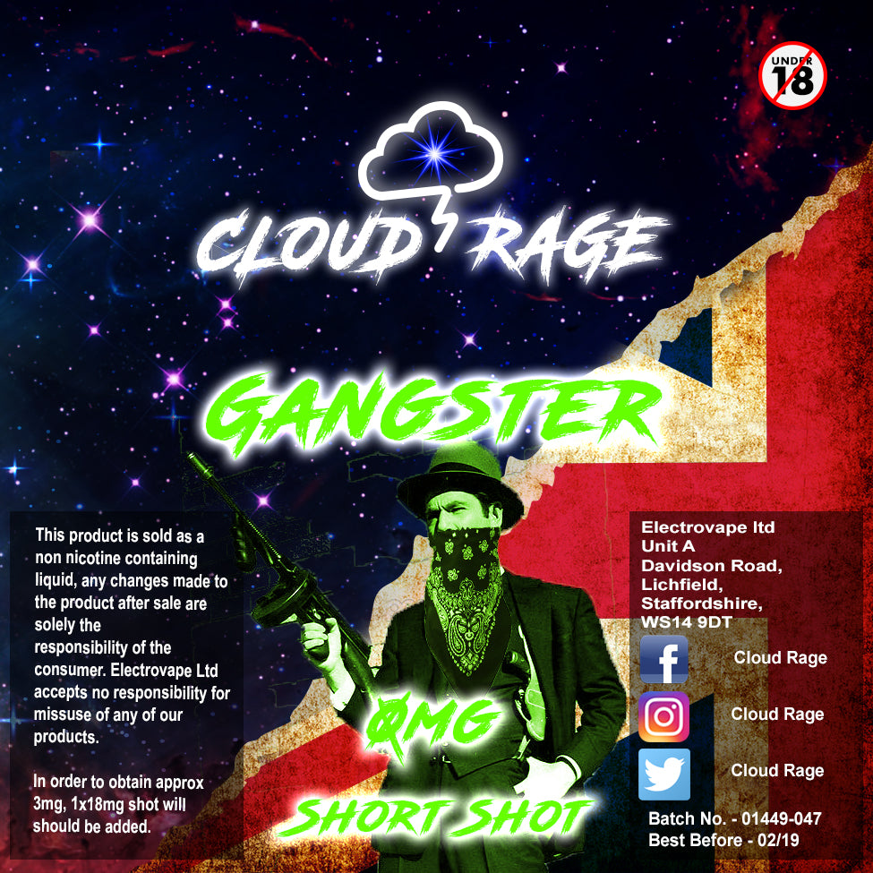 Cloud Rage - Gangster 50ml Shortshot