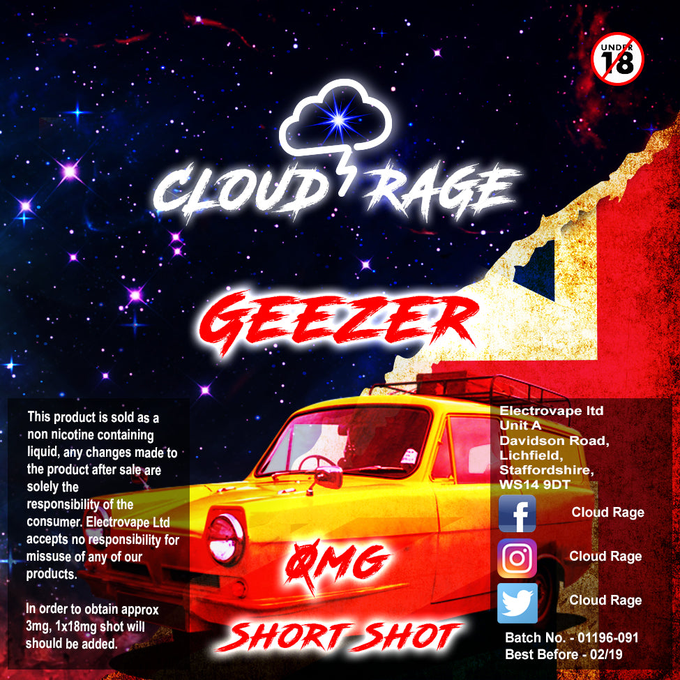 Cloud Rage - Geezer 50ml Shortshot