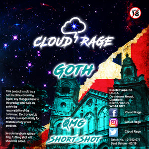 Cloud Rage - Goth 50ml Shortshot