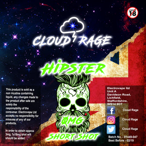 Cloud Rage - Hipster 50ml Shortshot