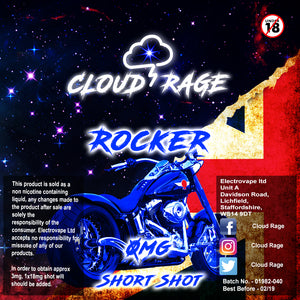 Cloud Rage - Rocker 50ml Shortshot