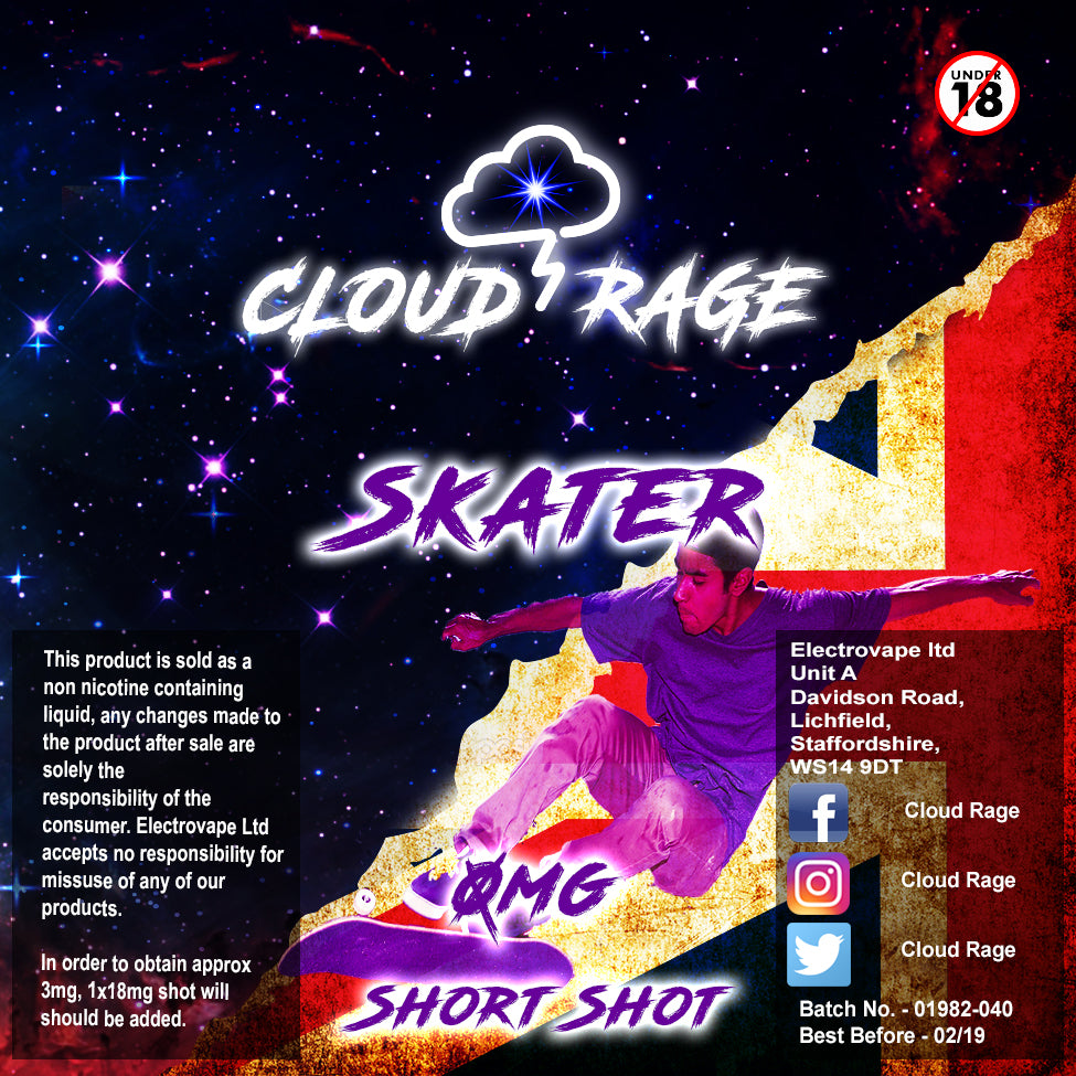 Cloud Rage - Skater 50ml Shortshot