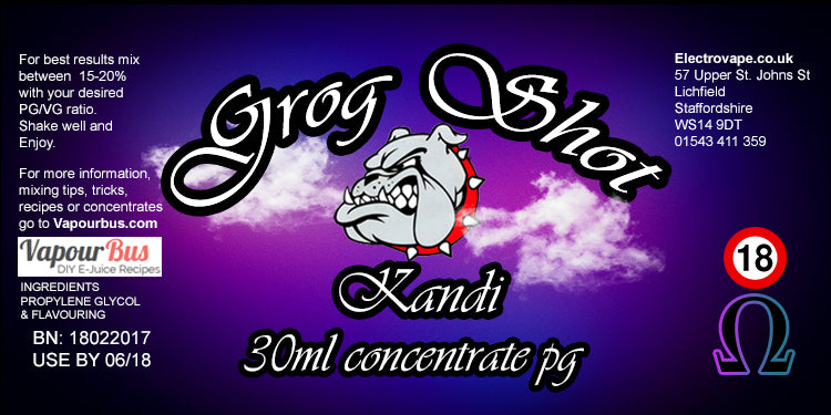 30ml Grog Shot Concentrate - Kandi