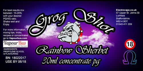 30ml Grog Shot Concentrate - Rainbow Sherbet